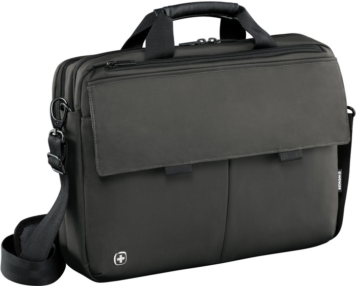 "WENGER ROUTE - 16"" messenger brašna pro notebook a tablet, šedivá"