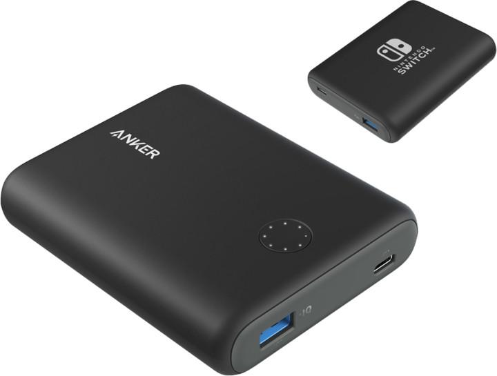 Anker powerbanka PowerCore 13400mAh Nintendo Switch externí baterie, černá