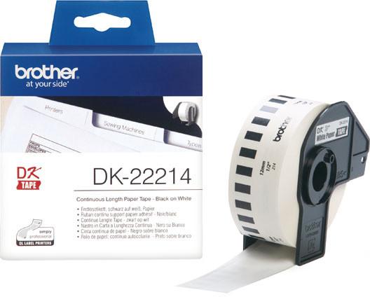 Brother - DK22214 (papírová role 12mm x 30,48m)