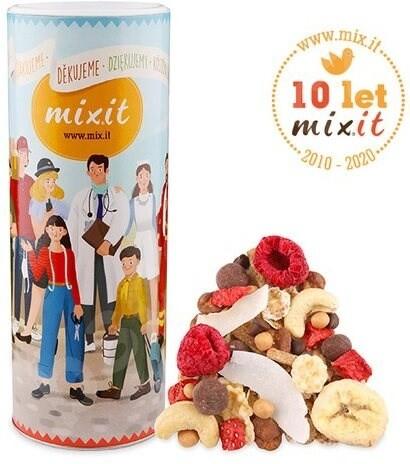 Mixit müsli Narozeninový mix - sušené ovoce/ořechy/čokoládové křupinky, 500g