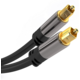 PremiumCord kabel Toslink, M/M, průměr 6mm, pozlacené konektory, 3m, černá