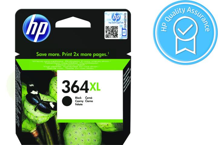 HP CN684EE, č. 364XL, černá – ušetřete až 50 % oproti standardní náplni