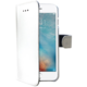 CELLY Wally pouzdro typu kniha pro Apple iPhone 7, PU kůže, bílá