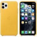 Apple kožený kryt na iPhone 11 Pro Max, hřejivě žlutá
