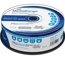 MediaRange BD-R 6x, 25GB, Printable, 25ks, spindle - MR515