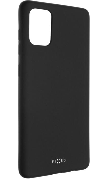 FIXED Story zadní pogumovaný kryt pro Samsung Galaxy A71, černá