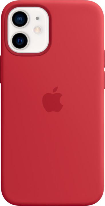 Apple silikonový kryt s MagSafe pro iPhone 12 mini, (PRODUCT)RED - červená