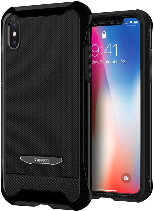 Spigen Signature Neo Hybrid zadní kryt pro iPhone X, černý