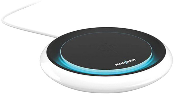 MiniBatt FLY podsvícená Qi bezdrátová fast charge nabíječka 10W