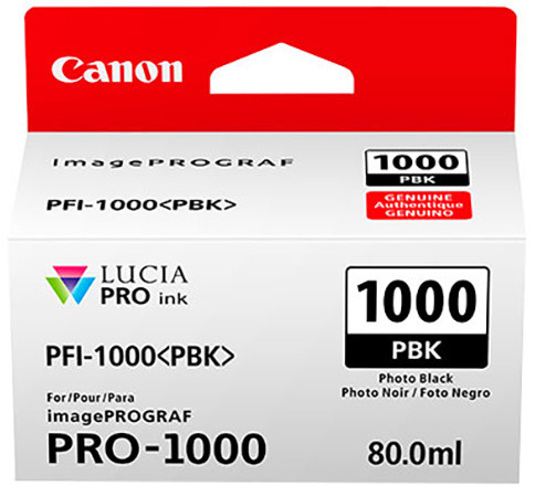 Canon PFI-1000PBK, photo black