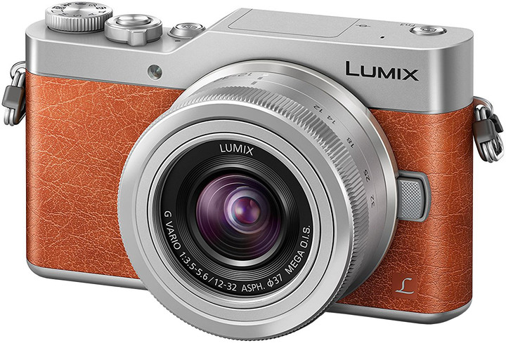 Panasonic Lumix DMC-GX800, hnědá + 12-32 mm