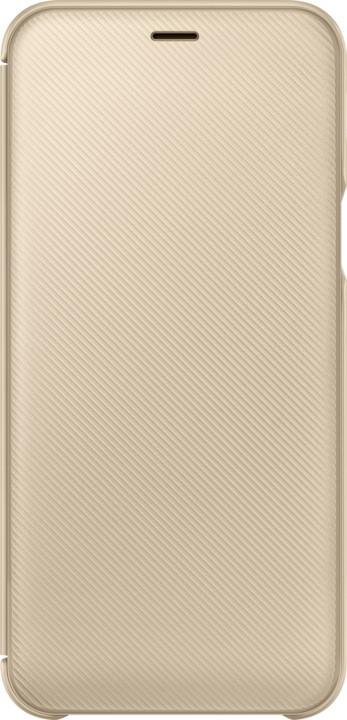 Samsung A6 flipové pouzdro, zlatá