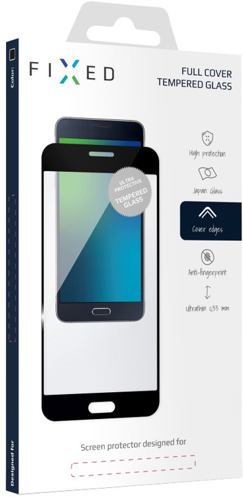 FIXED Full-Cover ochranné tvrzené sklo pro Nokia 7, přes celý displej, černé