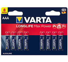 VARTA baterie Longlife Max Power AAA, 8ks - 4703101418