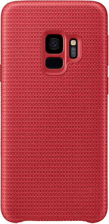 Samsung látkový odlehčený zadní kryt pro Samsung Galaxy S9, červený