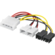 "PremiumCord kabel napájecí FAN 5,25""-2x 12V, 2x 5V TX 3pin"