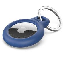 Belkin bezpečné pouzdro na Apple AirTag s kroužkem, modrá - F8W973btBLU