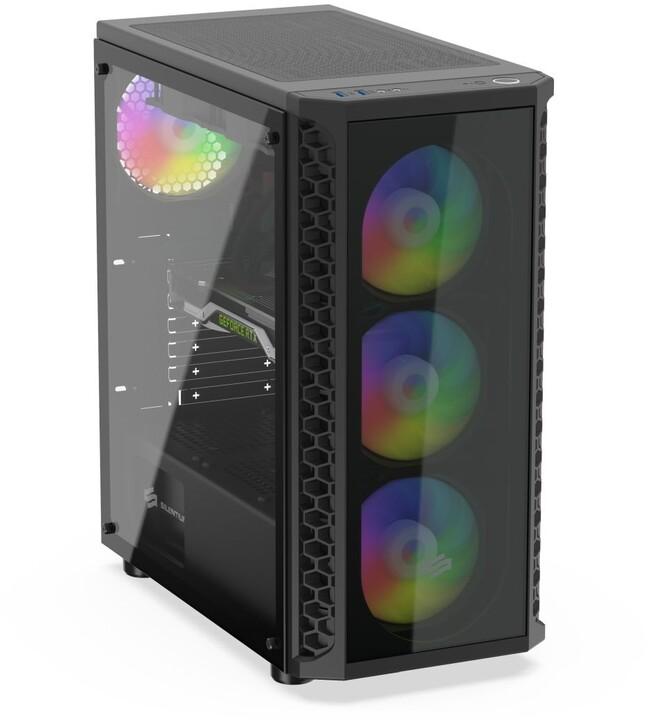 SilentiumPC Signum SG1X EVO TG ARGB, 4x120mm, černá
