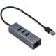 i-Tec USB 3.0 Metal 3 port HUB Gigabit Ethernet 1x USB 3.0 na RJ-45 3x USB 3.0