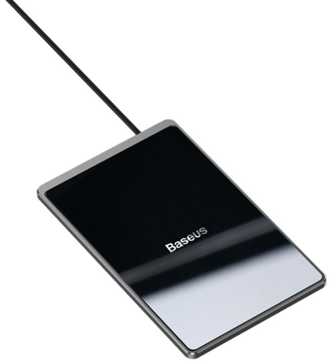 Baseus bezdrátová nabíječka Card Ultra-Thin, 15W, černá