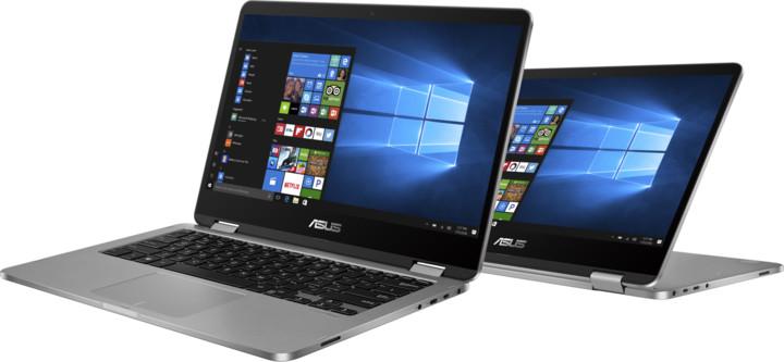 ASUS VivoBook Flip TP401NA, šedá