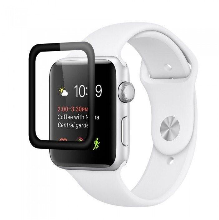 COTEetCI tvrzené sklo 4D Edge Glue pro Apple Watch, 42mm