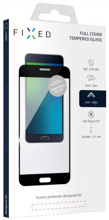FIXED Full-Cover ochranné tvrzené sklo pro Nokia 8, přes celý displej, černé, 0.33 mm