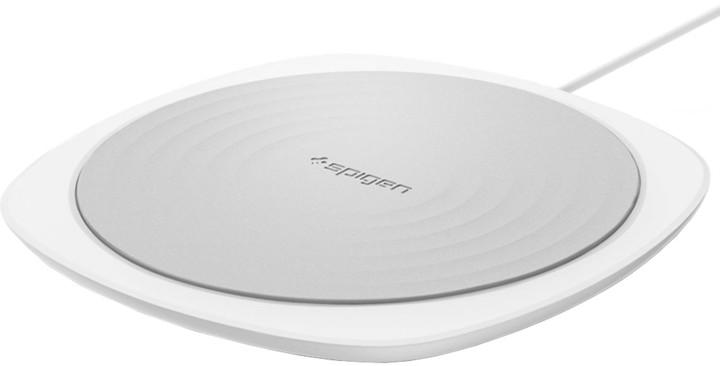 Spigen Essential F305W Wireless Fast Charger, bílá