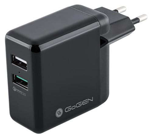 GoGEN Nabíječka do sítě, qualcomm Quick Charge 3.0, černá