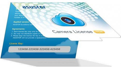 ASUSTOR NVR licenční balíček pro IP kameru - 1 licence
