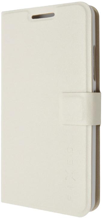 FIXED flipové pouzdro pro Lenovo A5000, bílá