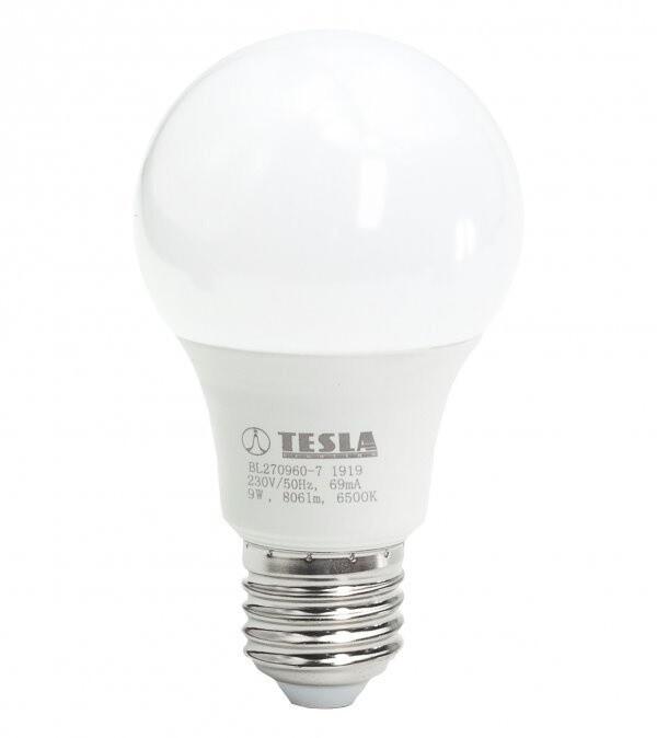 TESLA LED žárovka BULB E27, 9W, 6500K, studená bílá