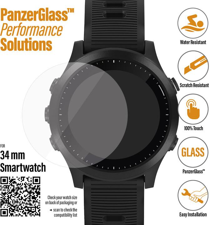 PanzerGlass SmartWatch pro různé typy hodinek (34mm), čiré
