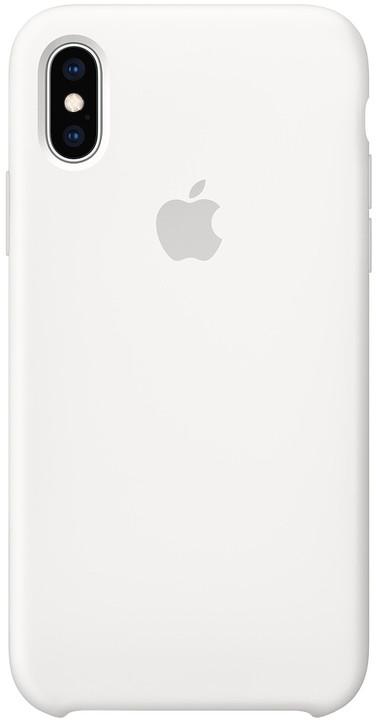 Apple silikonový kryt na iPhone XS, bílá