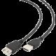 Gembird CABLEXPERT kabel USB A-A 3m 2.0 prodlužovací HQ zlacené kontakty, černá