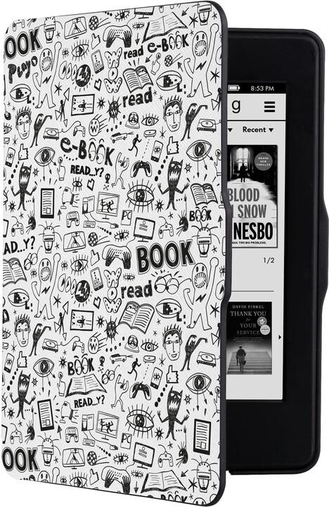 CONNECT IT Doodle pouzdro pro Amazon Kindle Paperwhite, bílá