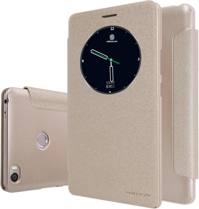 Nillkin Sparkle Leather Case pro Xiaomi Max, zlatá