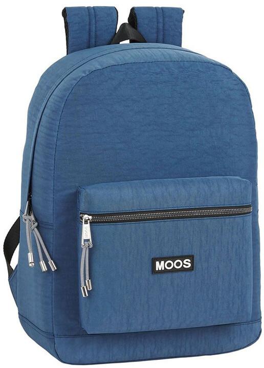"""CurePink batoh MOOS na notebook 15.6"""", modrá"""