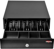 Virtuos pokladní zásuvka EK-300C - s kabelem, pořadač 3/4, 9-24V, černá - EKN0111