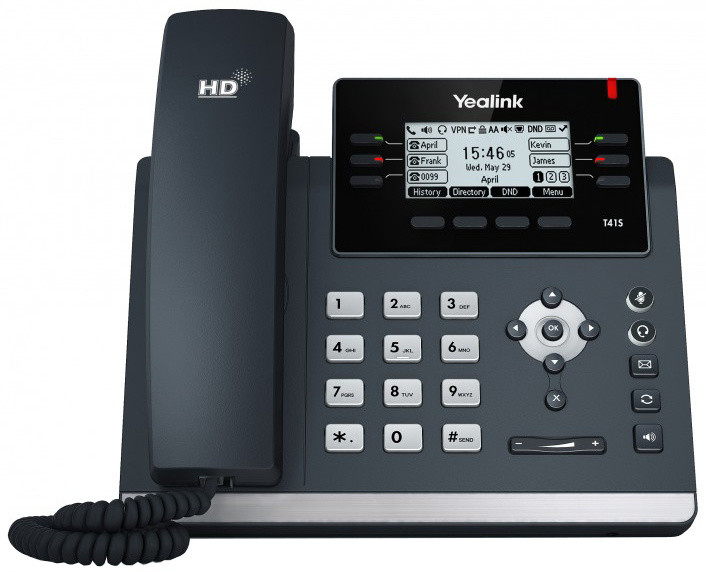 YEALINK SIP-T41S telefon, Skype for Business