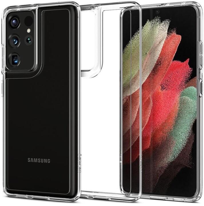 Spigen ochranný kryt Ultra Hybrid pro Samsung Galaxy S21 Ultra, transparentní
