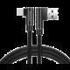SWISSTEN datový kabel Arcade USB-A - USB-C, M/M, 3A, zahnutý konektor 90°, opletený, 1.2m, černá