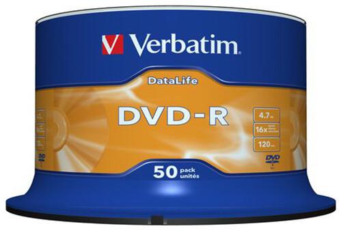Verbatim DVD-R 4,7GB 16x, Matt Silver, Spindle 50ks