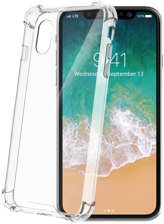 CELLY zadní kryt Armor pro Apple iPhone X, bezbarvý