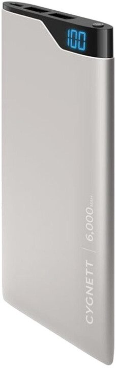 Cygnett Power Bank 6000mAh, space grey