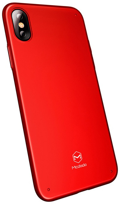 Mcdodo iPhone X Super Vision Grip Case (PC), Red