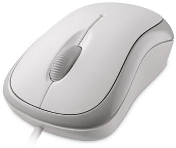 Microsoft Basic Optical Mouse, bílá