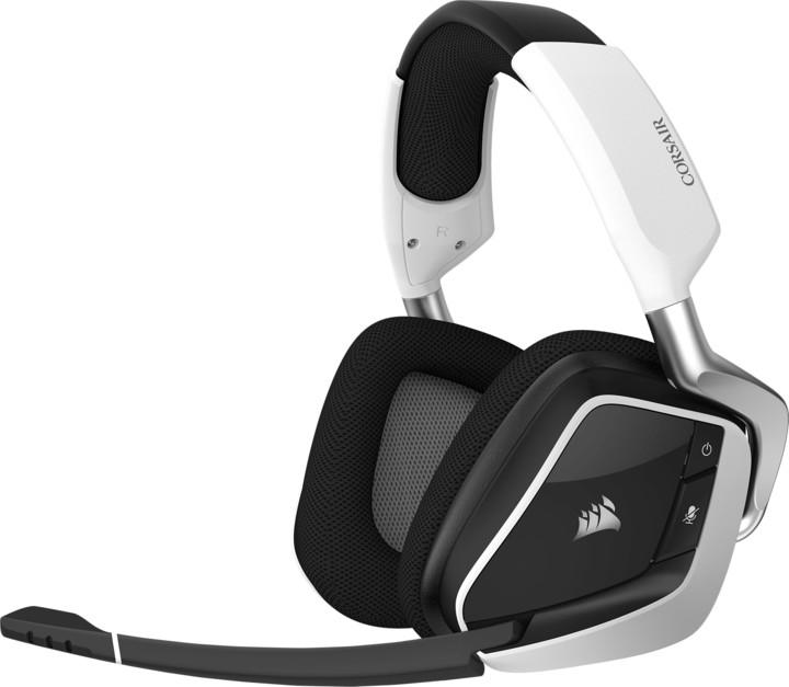 Corsair Gaming VOID Pro RGB Wireless, bílá