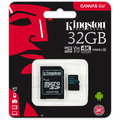 Kingston Micro SDHC Canvas Go! 32GB 90MB/s UHS-I + SD adaptér