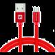 SWISSTEN textilní datový kabel USB A-B micro, 3m, červený